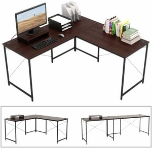 Bestier 2 person l shaped office desk